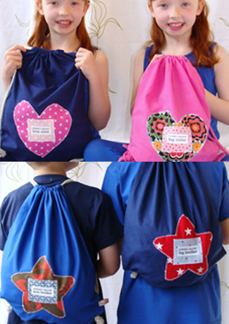 Handmade childrens slogan bags by cabbie kids
